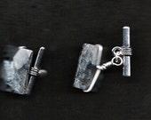 Beautiful Black and Gray Stone Cufflinks