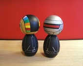 Kokeshi dolls. Custom Daft Punk inspired deluxe set