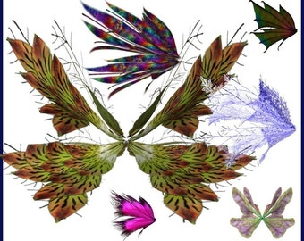 Fairy Wings Graphics Clip Art -- 52  Royalty free images plus Bonus Wands