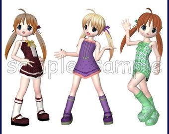 Sassy Sally Graphics Clipart Collection -- 18 Royalty Free Images