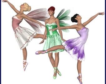 Beautiful Ballerina Graphics Clip Art Set -- 24 Royalty Free poses
