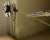 Gear hatpin steampunk pin