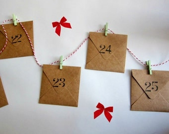 DIY KIT - 12 days till Christmas Advent Calendar