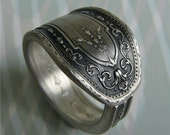 Antique Spoon Ring, Silver Pattern: Hampton Court 1926, Only 1 Left