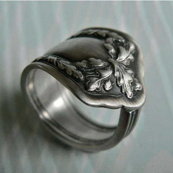 Silver Spoon Ring Fair Oak 1913