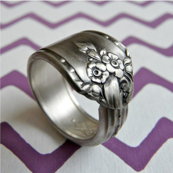 Silver Spoon Ring - Silverware Jewelry