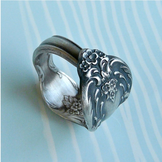 Silver Spoon Ring - Upcycled Silverware Jewelry