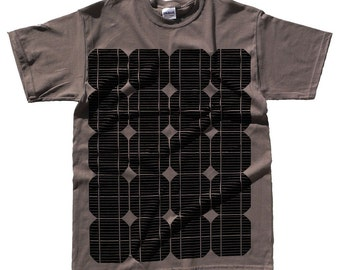 Solar Cell T Shirt - Solar Panel Print - Geek - Alternative Energy