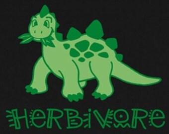 Dinosaur T Shirt - American Apparel - Green On Black