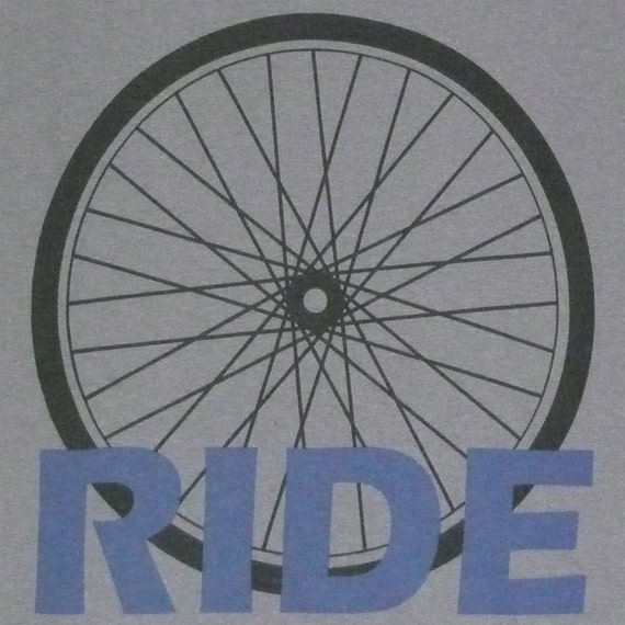 Bike T Shirt - Ride - Cycling - Biking - Bicycle - S M L XL American Apparel