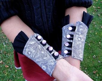 Pink Button Cuffs
