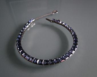 Blue Rhinestone Vintage Bracelet