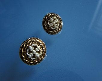 Gold Tone Victorian Earrings