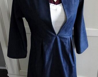 Blue Linen Tunic Dress