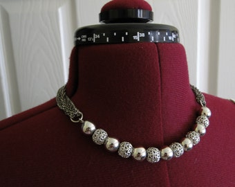 Silver Beads and Chains
