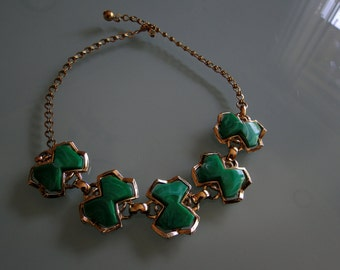 Vintage Choker, Kelly Green Vintage Necklace