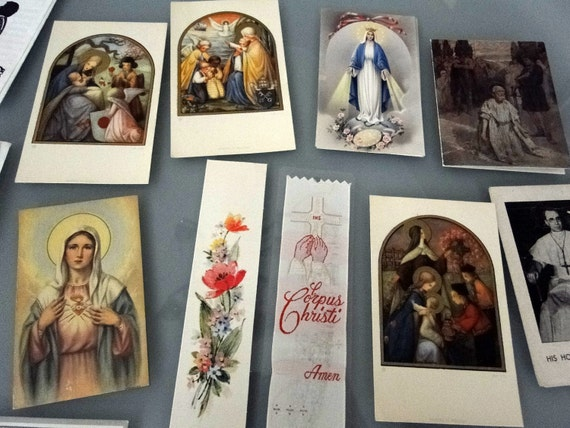 Collection of Vintage Prayer Cards