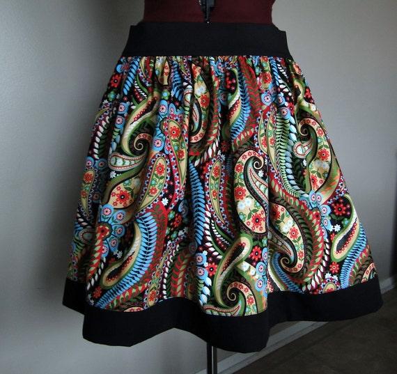 Colorful Paisley Skirt