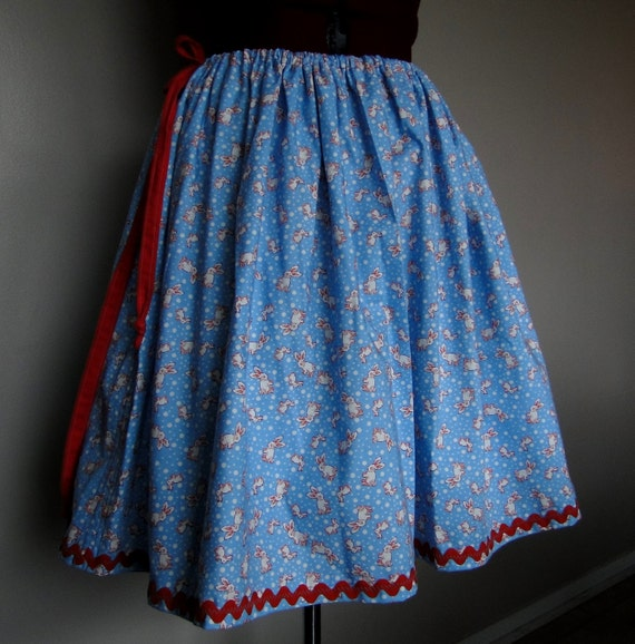 Blue Cotton Bunny Skirt