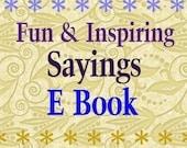 Fun Inspiring Sayings Quotes E Book PDF  - 6300 words all holidays halloween phrase christmas easter digital uprint craft scrapbooking