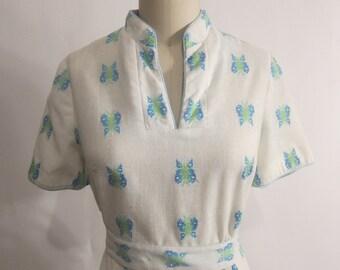 Vintage 1960's Butterfly Dress XL SALE
