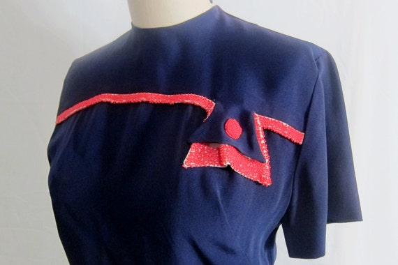 Vintage 1940's Beaded Rayon Blouse RESERVED for Mahvelous