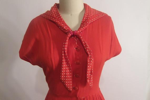 Vintage 1950's Sailor Dress