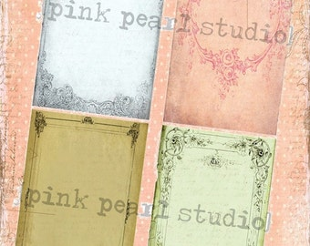 Grungy, Shabby Frame BaCKGRouND PaPeRs DiGiTaL CoLLaGe sHeeT aLTeReD HaNg TaGs BooK JouRNaL SCRaPBooKiNg SuPPLieS