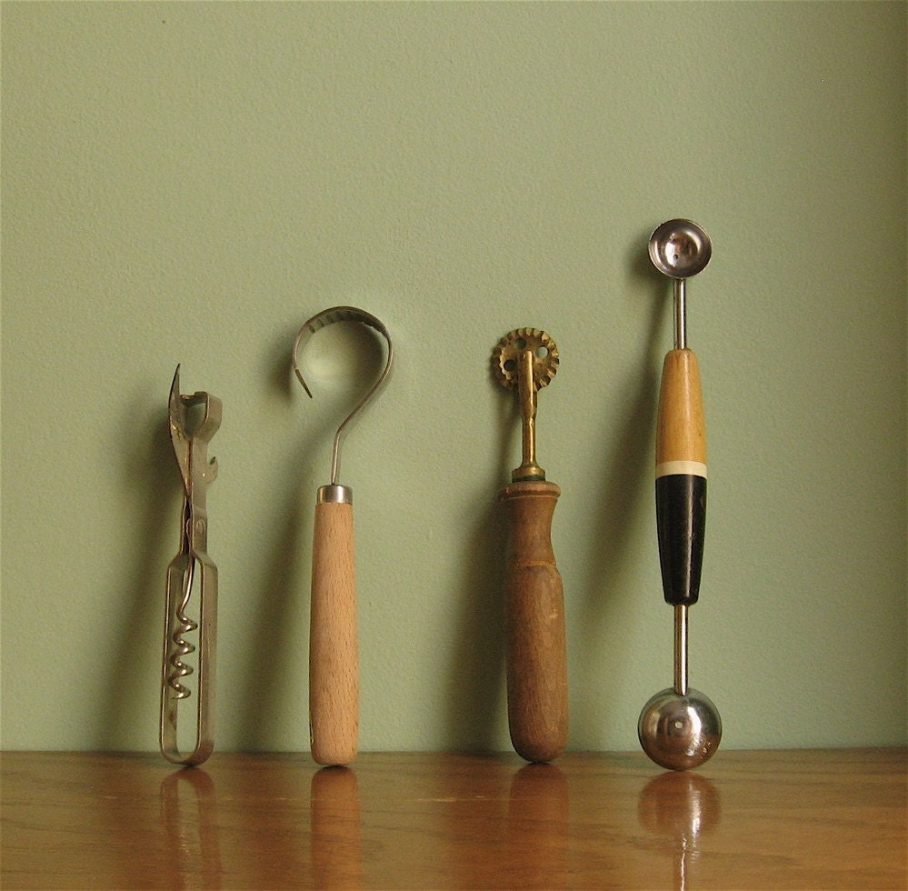 4 Tools Vintage Kitchen Gadget Set By Daisychainvintage On