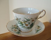 Regency English Bone China Narcissus Teacup and Saucer