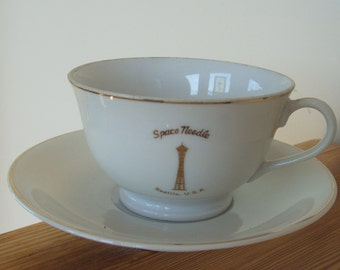 Space Needle Seattle USA Cup and Saucer