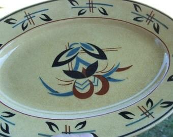 Antique  German Oval Plate Platter