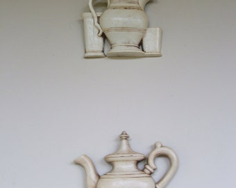 Set of 2 Burwood Products Urns Pitchers Wall Hangings
