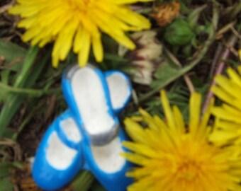 Blue Dancing Shoes Pin Brooch