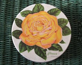 Yellow PEACE Rose Tin Mrs. Stevens Chicago