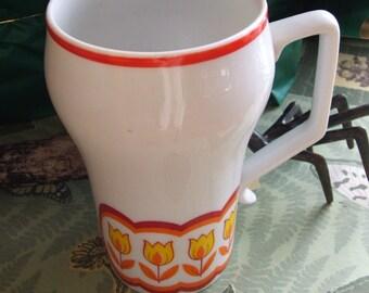 Vintage Tulip Mug Red Yellow White Stylecraft Japan