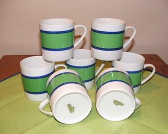 7 Jonas Roberts Mugs mod blue and green bands