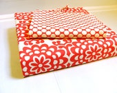 Notepad and 3 Ring Binder Fabric Cover Back to School Gift Set