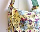 Convertible Messenger Backpack Diaper Bag Tote and Changing Pad --- Made to order from your choice of  fabric
