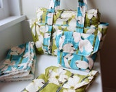 Stylish Diaper Bag Gift Set --- Choose your fabric