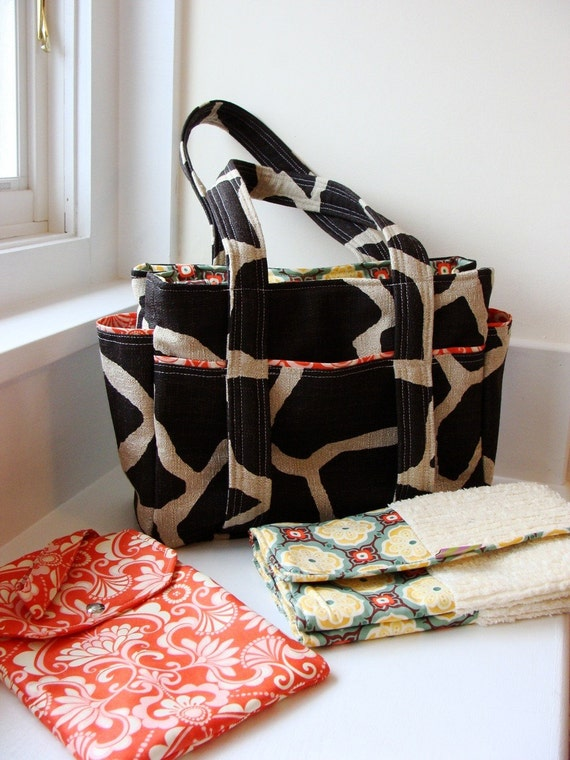Custom Ultimate Diaper Bag with Diaper Clutch with Changing Pad