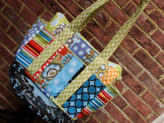 Reserved listing: XL Patchwork Bag, with RAP strap and Changing Pad