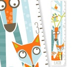 Personalized Growth Chart Wild Sprouts (orange)