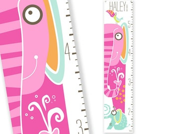 Personalized Growth Chart Jumbo the Elephant (Pink)
