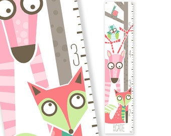 Personalized Growth Chart Wild Sprouts (Pink)