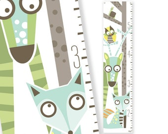 Growth Chart Wild Sprouts (green)
