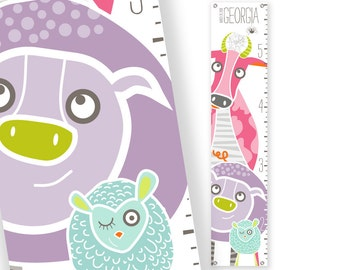 Personalized Growth Chart YeeHaw (pink)
