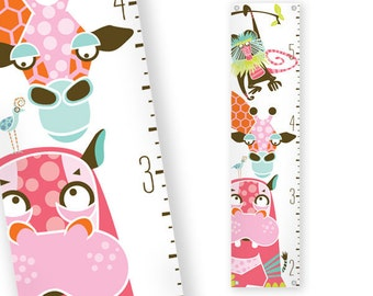 Growth Chart Safari (Pink)
