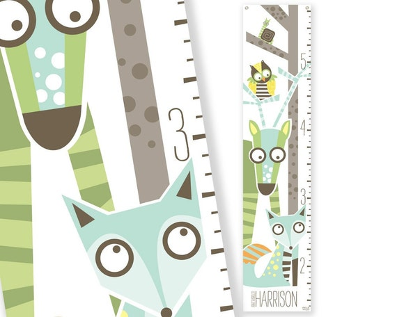Personalized Growth Chart Wild Sprouts (green)