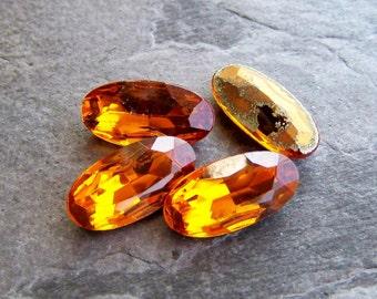 Vintage Stones-Vintage Czech Topaz Stones-4
